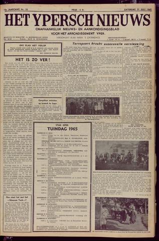 Het Ypersch nieuws (1929-1971) 1965-07-31