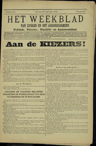 Het weekblad van Ijperen (1886 - 1906) 1894-09-29