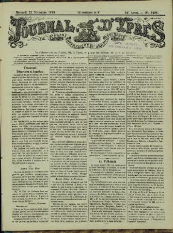 Journal d'Ypres (1874 - 1913) 1899-11-22