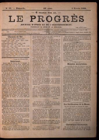 Le Progrès (1841-1914) 1888-02-05