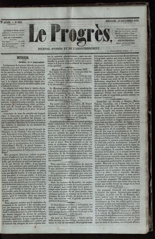 Le Progrès (1841-1914) 1847-09-12
