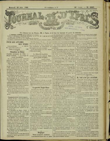 Journal d'Ypres (1874 - 1913) 1900-06-20