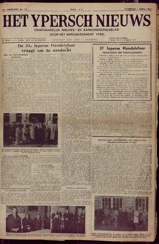 Het Ypersch nieuws (1929-1971) 1961-04-01