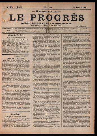 Le Progrès (1841-1914) 1888-04-05