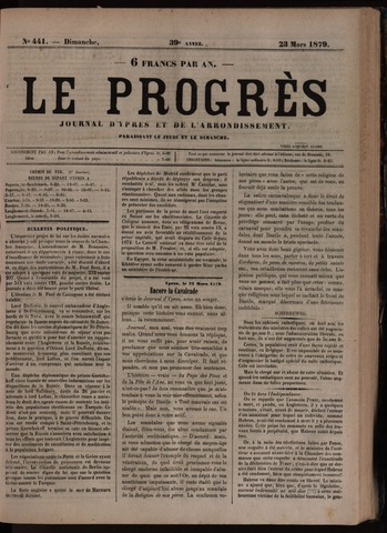 Le Progrès (1841-1914) 1879-03-23