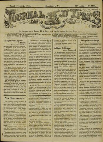Journal d'Ypres (1874 - 1913) 1898-01-15
