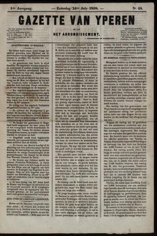 Gazette van Yperen (1857-1862) 1858-07-24