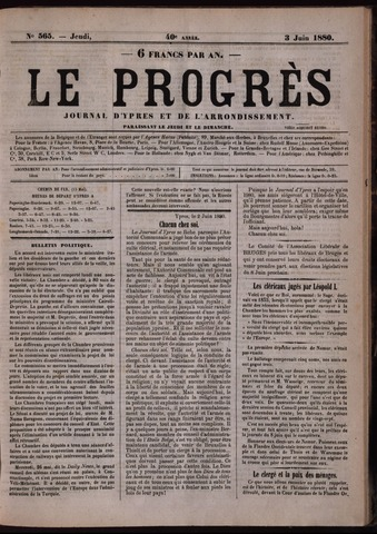 Le Progrès (1841-1914) 1880-06-03