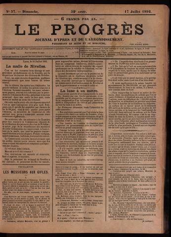 Le Progrès (1841-1914) 1892-07-17