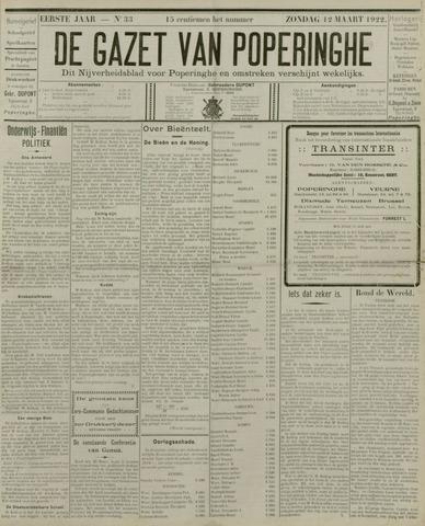 De Gazet van Poperinghe  (1921-1940) 1922-03-12