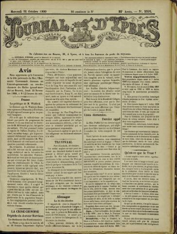 Journal d'Ypres (1874 - 1913) 1900-10-31