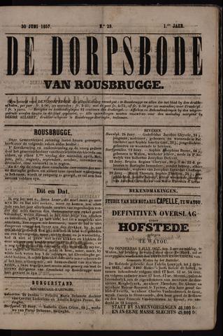 De Dorpsbode van Rousbrugge (1856-1857 en 1860-1862) 1857-06-30