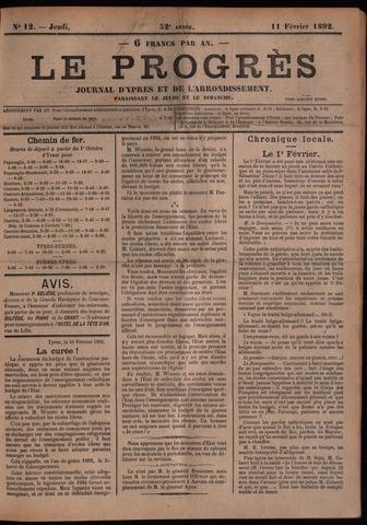 Le Progrès (1841-1914) 1892-02-11