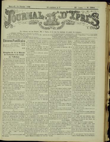 Journal d'Ypres (1874 - 1913) 1900-02-14