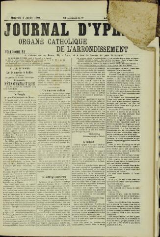 Journal d'Ypres (1874 - 1913) 1906-07-04