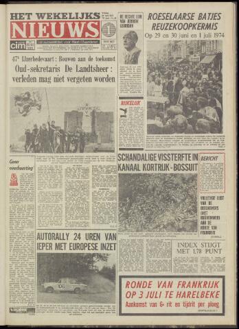 Het Wekelijks Nieuws (1946-1990) 1974-06-28