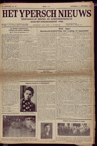 Het Ypersch nieuws (1929-1971) 1963-09-21