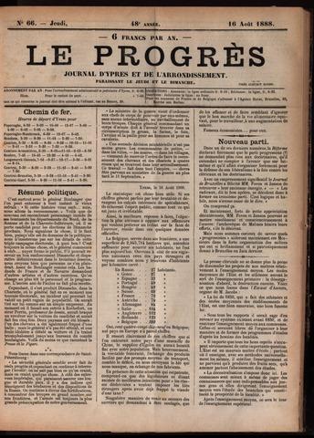 Le Progrès (1841-1914) 1888-08-16