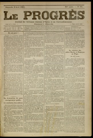 Le Progrès (1841-1914) 1905-04-09