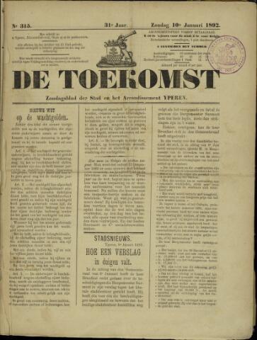 De Toekomst (1862 - 1894) 1892-01-10