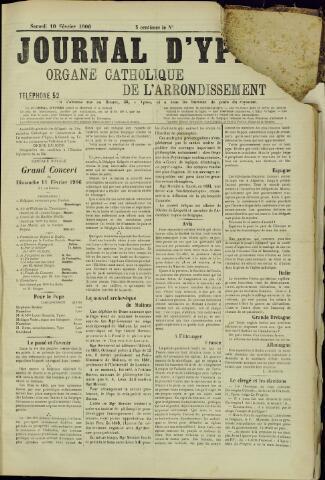 Journal d'Ypres (1874 - 1913) 1906-02-10