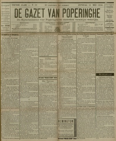 De Gazet van Poperinghe  (1921-1940) 1930-05-11