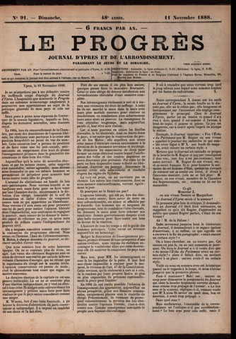 Le Progrès (1841-1914) 1888-11-11
