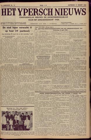 Het Ypersch nieuws (1929-1971) 1964-03-21