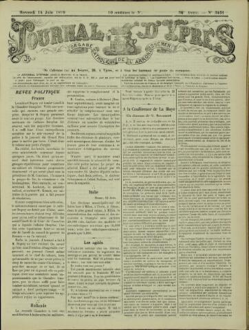 Journal d'Ypres (1874 - 1913) 1899-06-14