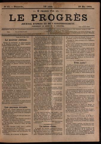 Le Progrès (1841-1914) 1892-05-29