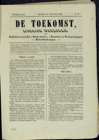 De Toekomst (1862 - 1894) 1863-08-16
