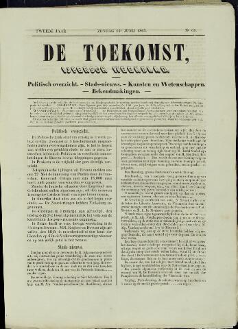 De Toekomst (1862 - 1894) 1863-06-14