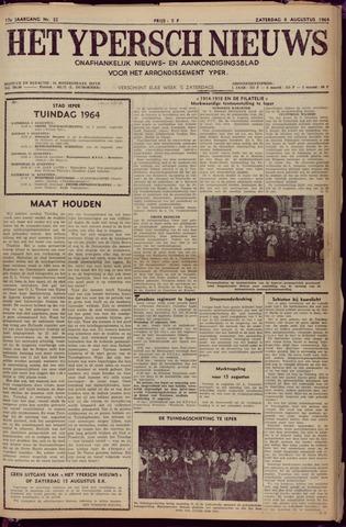 Het Ypersch nieuws (1929-1971) 1964-08-08
