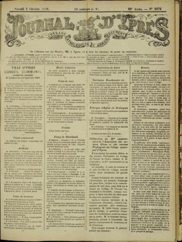 Journal d'Ypres (1874 - 1913) 1898-10-01
