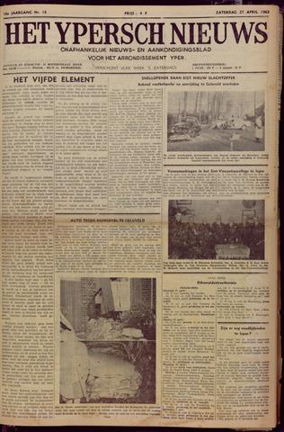 Het Ypersch nieuws (1929-1971) 1963-04-27