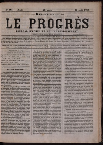 Le Progrès (1841-1914) 1880-08-12