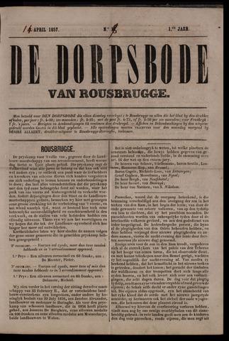 De Dorpsbode van Rousbrugge (1856-1857 en 1860-1862) 1857-04-14