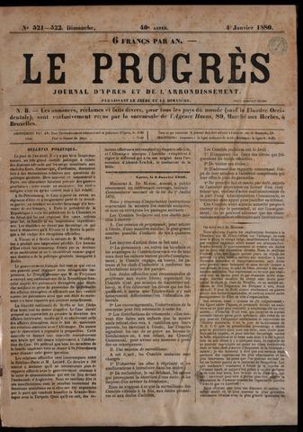 Le Progrès (1841-1914) 1880-01-04