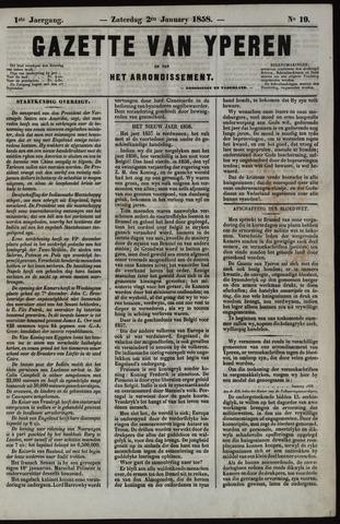 Gazette van Yperen (1857-1862) 1858-01-02