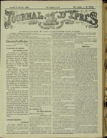Journal d'Ypres (1874 - 1913) 1900-02-03