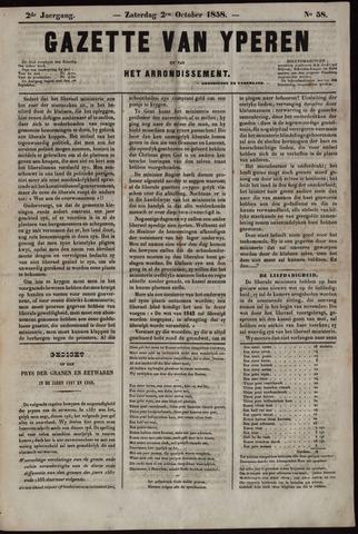 Gazette van Yperen (1857-1862) 1858-10-02