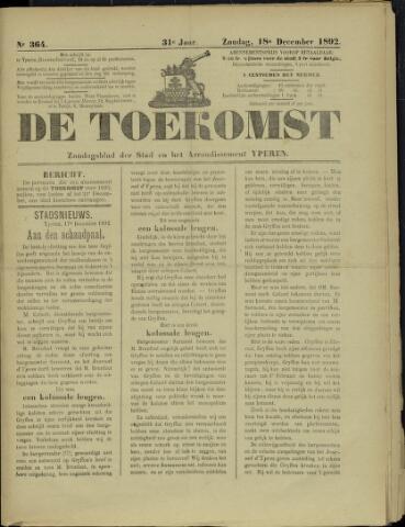 De Toekomst (1862 - 1894) 1892-12-18