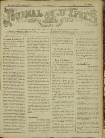 Journal d'Ypres (1874 - 1913) 1898-11-16