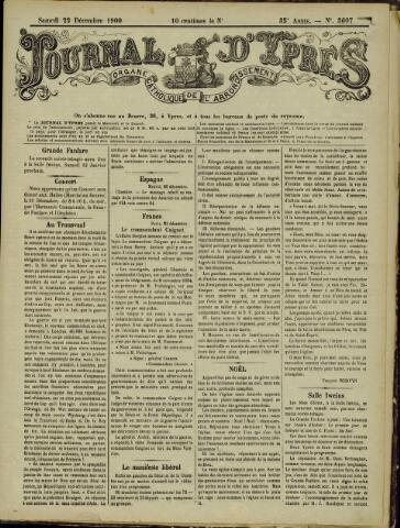 Journal d'Ypres (1874 - 1913) 1900-12-22