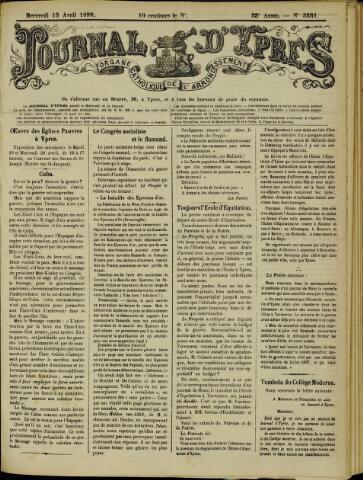 Journal d'Ypres (1874 - 1913) 1898-04-13