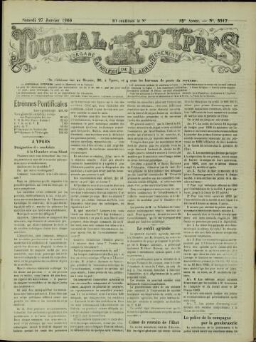 Journal d'Ypres (1874 - 1913) 1900-01-27