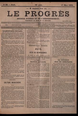 Le Progrès (1841-1914) 1892-03-17