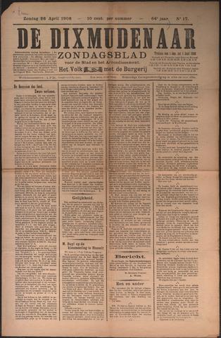 De Dixmudenaar 1908-04-28