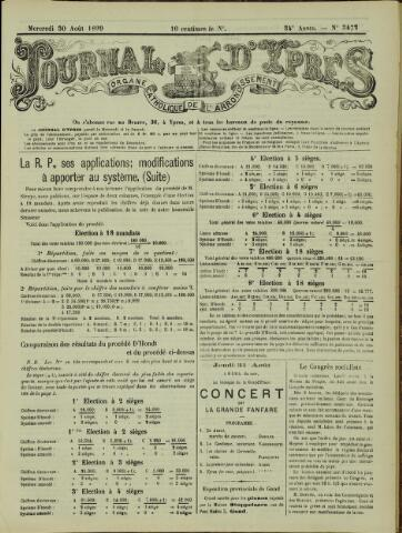 Journal d'Ypres (1874 - 1913) 1899-08-30