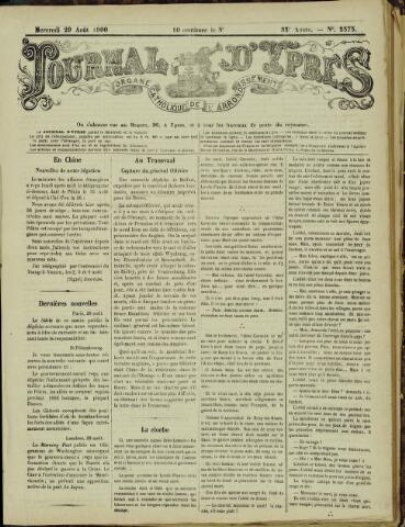 Journal d'Ypres (1874 - 1913) 1900-08-29